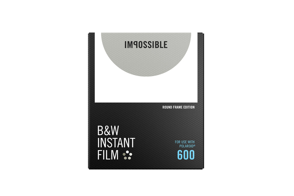 Impossible 600 B&W Film Round Frame