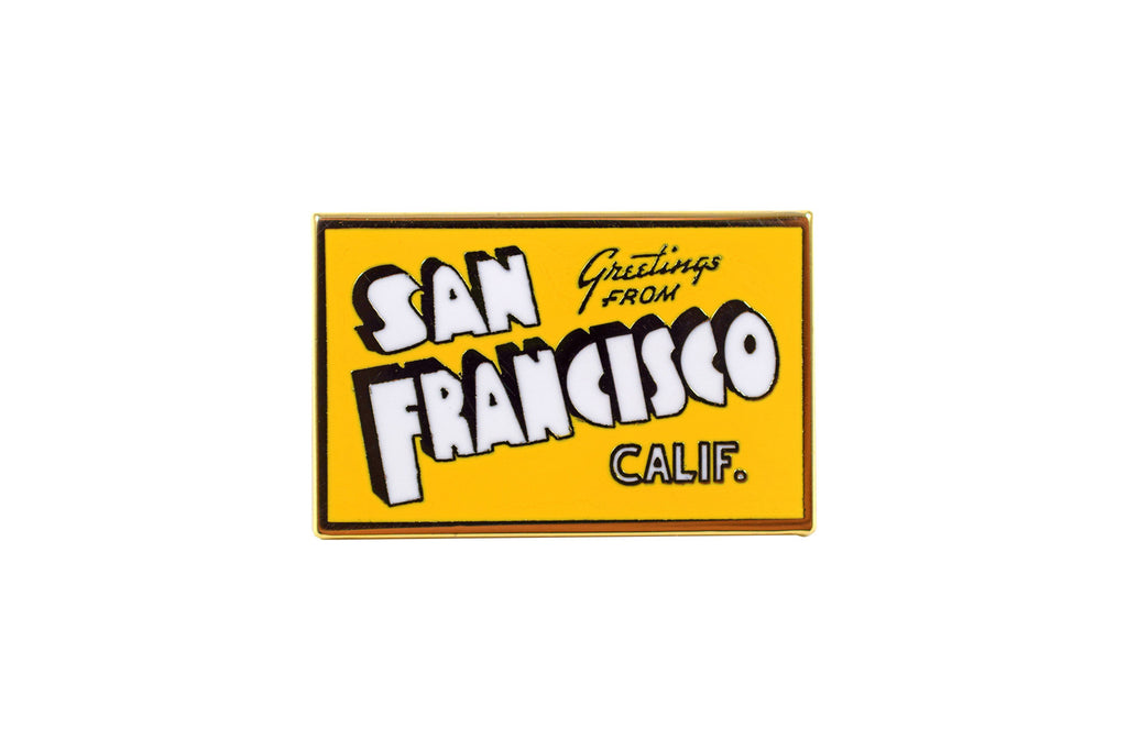 SF Postcard Pin