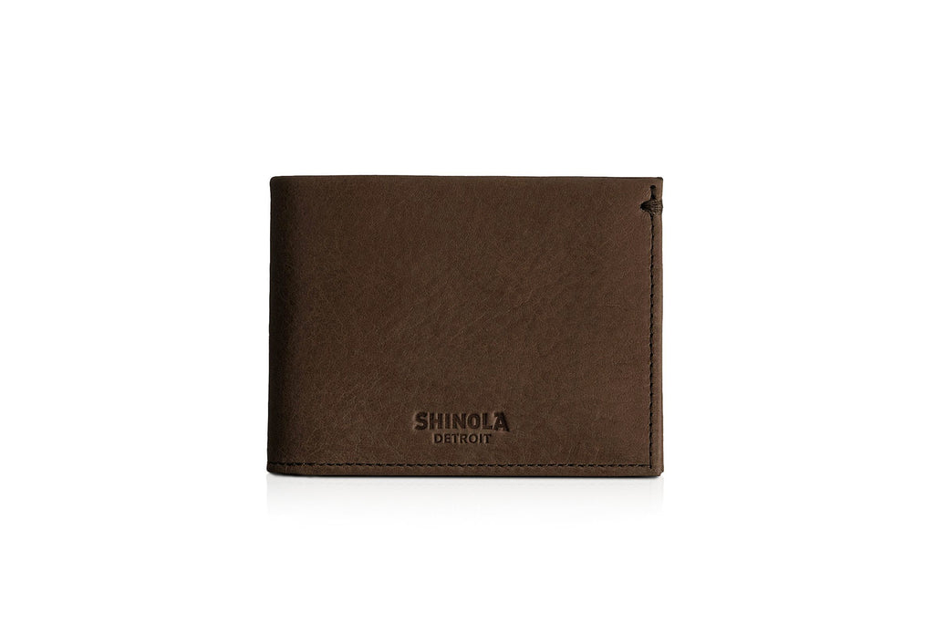 Slim Bifold Wallet Deep Brown