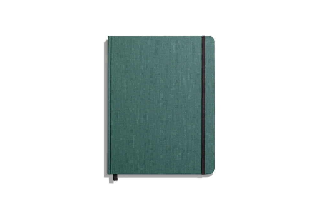 Large Hard Linen Journal Plain