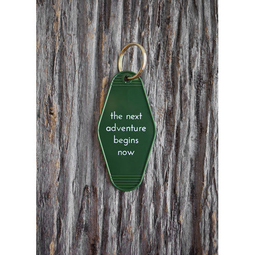 The Next Adventure Begins Now Keychain