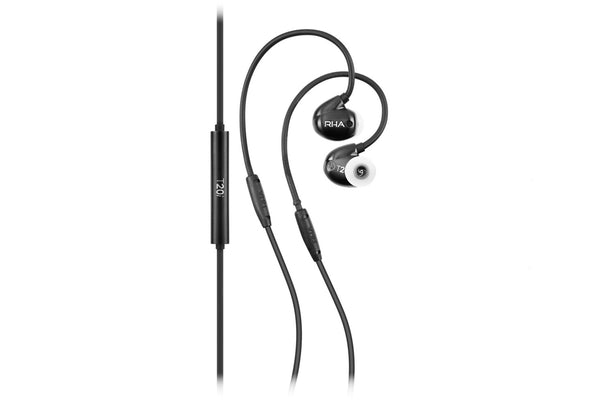 RHA T20i Earphones with Remote Black