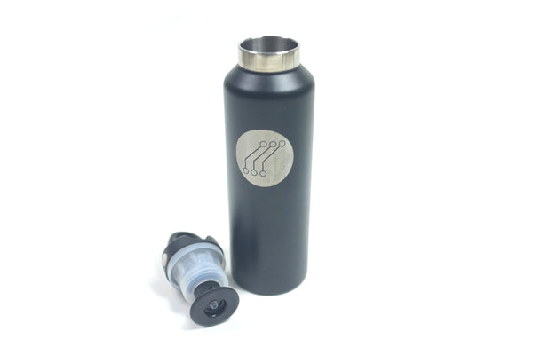 SS Quick Release 20oz Insulated Thermos Black Logo