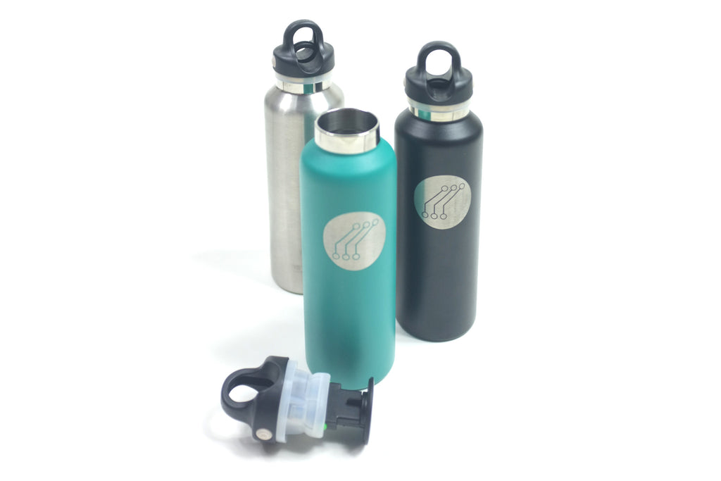 Quick Release Insulated Thermos Silver
