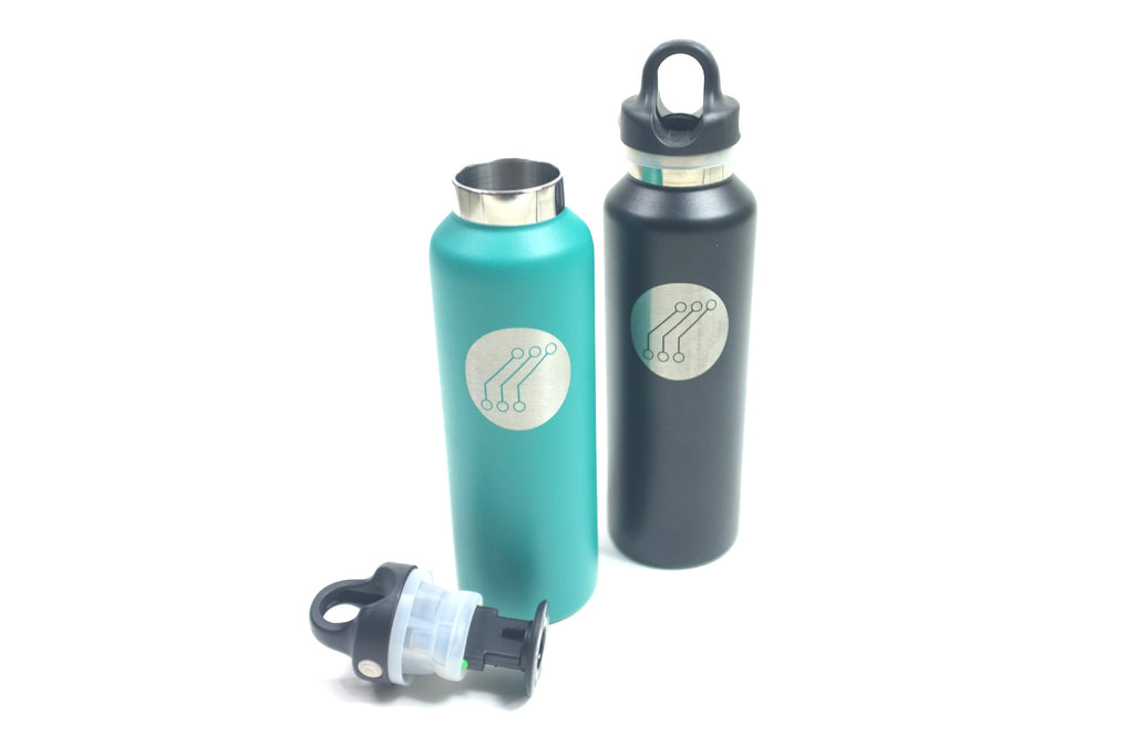 SS Quick Release 20oz Insulated Thermos Green Logo
