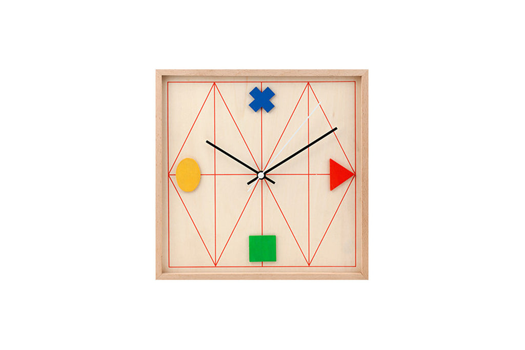Clock Wood Geometric