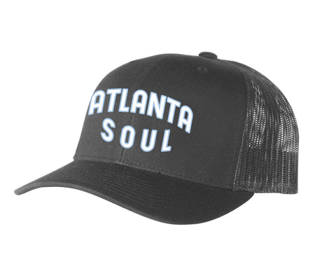 Atlanta Soul Embroidered Trucker Hat (Charcoal/Charcoal)