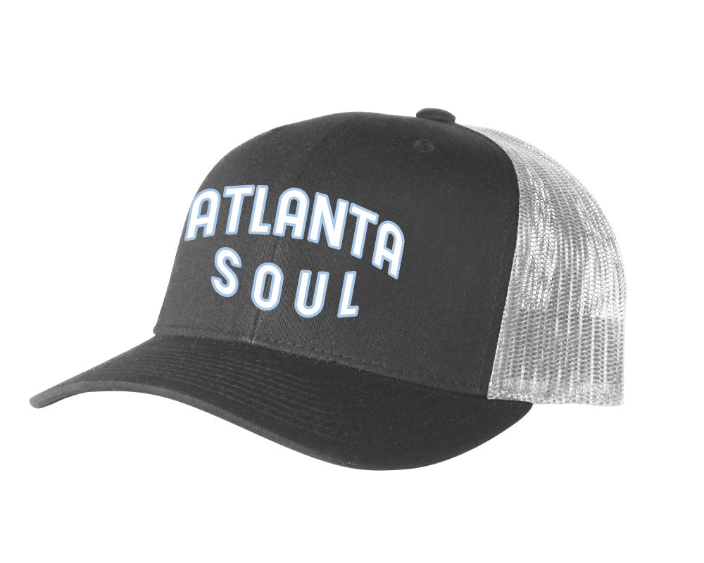 Atlanta Soul Embroidered Trucker Hat (Charcoal/White)