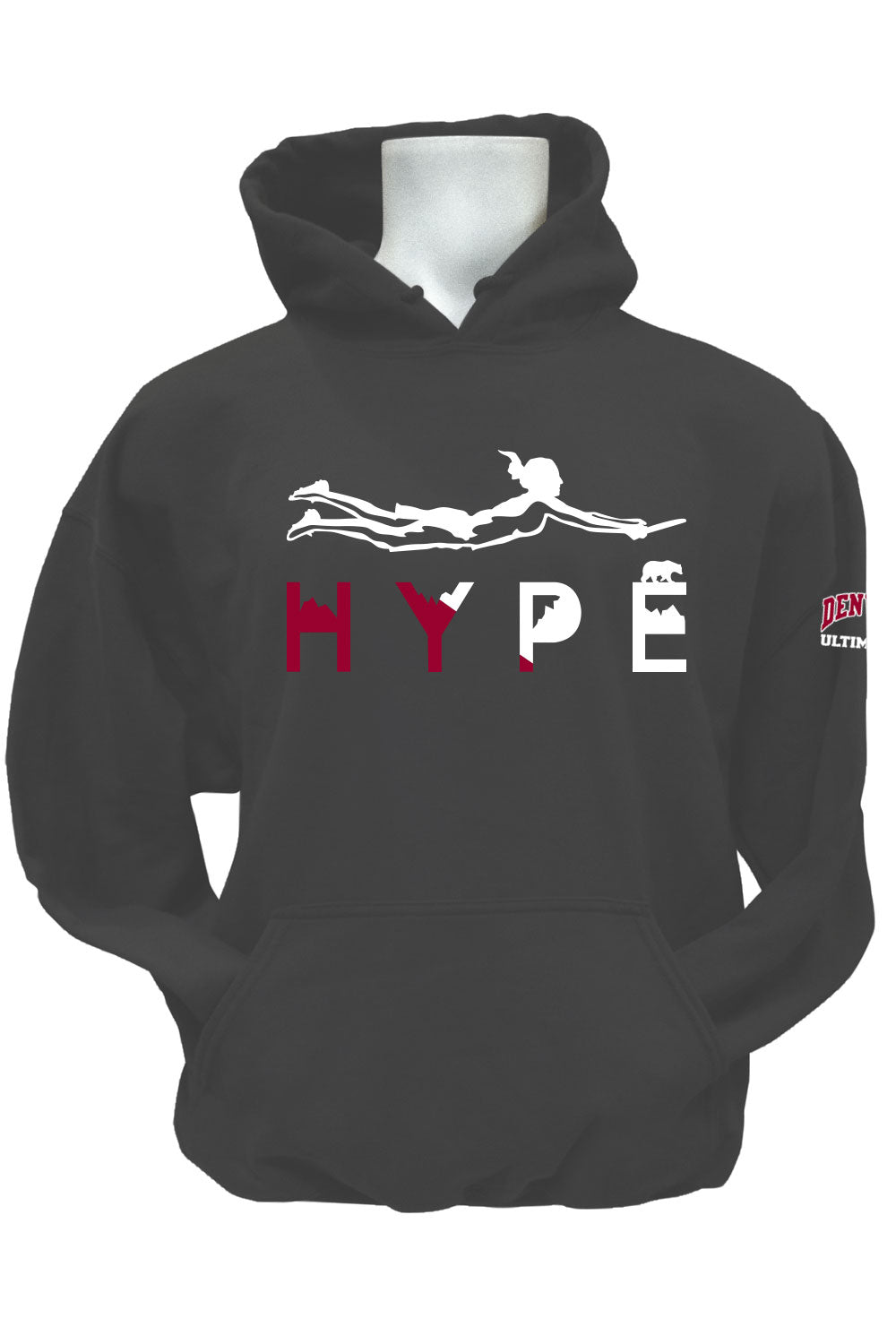 Denver Hype Fleece Pullover Hoodie (Charcoal)