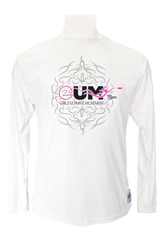 GUM White Long Sleeve Jersey (Black/Pink)