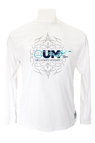 GUM White Long Sleeve Jersey (Navy/Teal)
