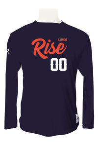 Illinois Rise Long Sleeve Jersey (Navy)