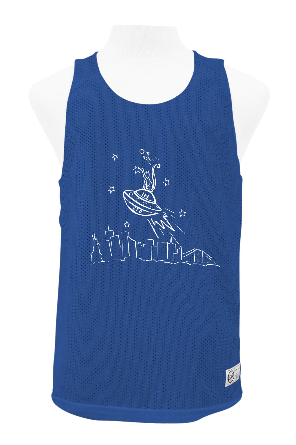 UFO Reversible Tank (Royal/White)