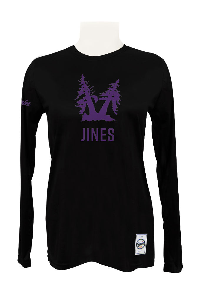 Jines in the Pines Long Sleeve Jersey (Black)