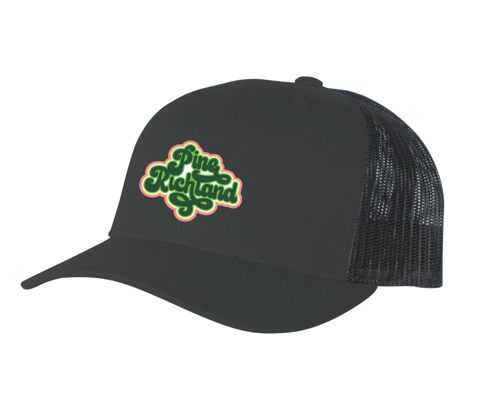 Pine Richland Ultimate Adjustable Trucker Hat (Charcoal/Black)