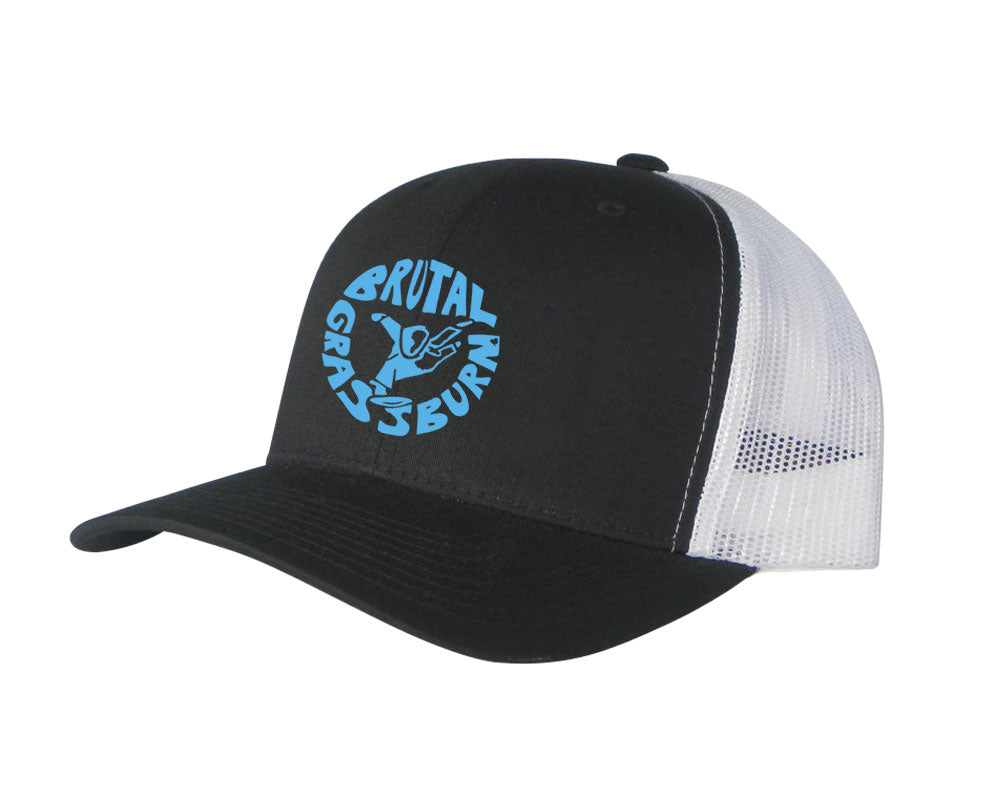 Brutal Grassburn Trucker Hat (Black/White)