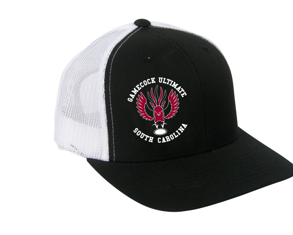 South Carolina Adjustable Trucker Hat (Black/White)