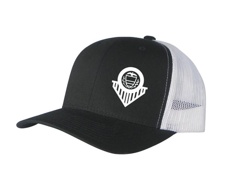 West Chester Adjustable Trucker Hat (Black/White)
