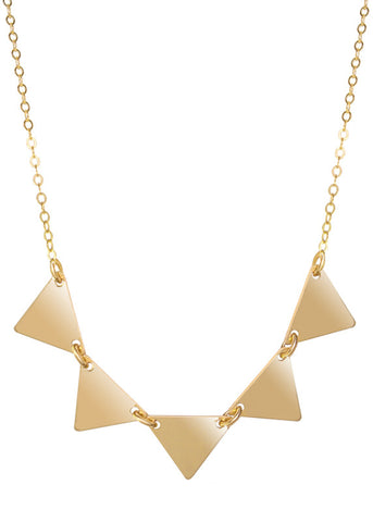 Triangle Pendant Necklace - 14k Gold-Filled