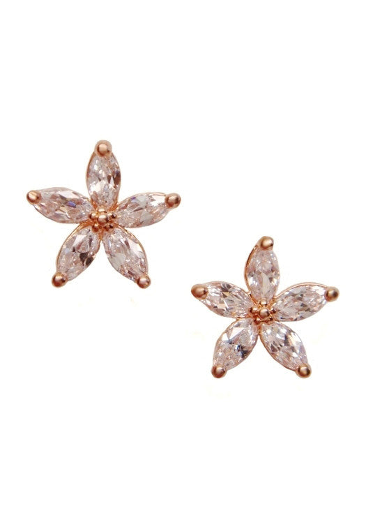 Blushing Petal 14k Rose Gold Earrings