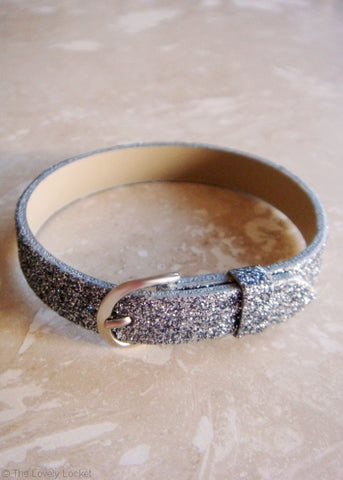 All That Glitters Wrap Bracelet by GlitzSugar™ - Sparkling Silver