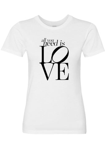 All You Need Is Love Luxury Soft Crew Neck Tee