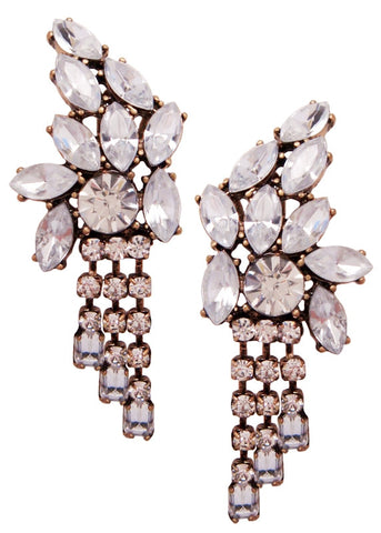 Marquise Baguette Drop Earrings