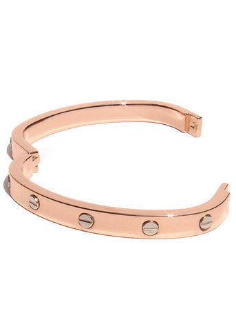 Rose Gold Screw Bracelet