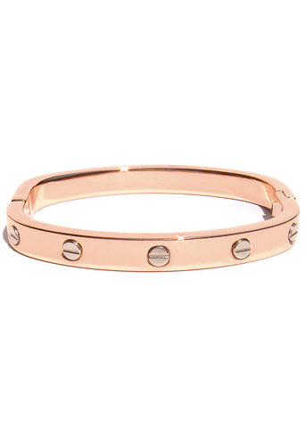 Bolt Hinge Screw Cuff Rose Gold