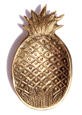 Brass Gold Pineapple Ring Dish Jewelry Catchall Tray