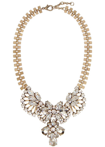 Cascading Crystal Collar Necklace