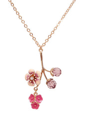Cherry Blossom Pendant Necklace PrincessSugar Girls Jewelry Collection