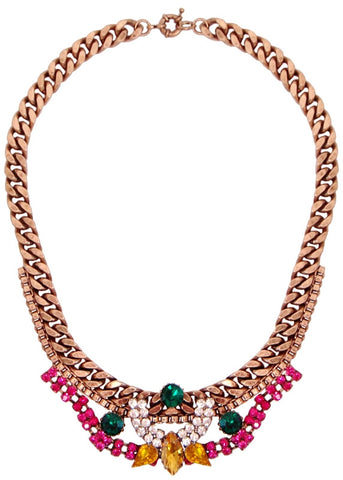 Crown Jewels Jeweled Crystal Collar Necklace