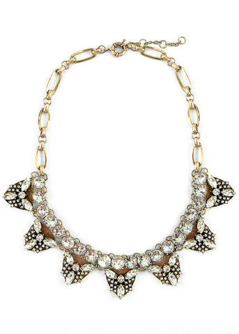 Crystal Armour Collar Necklace