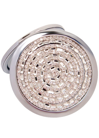 Crystal Baguette Compact Mirror