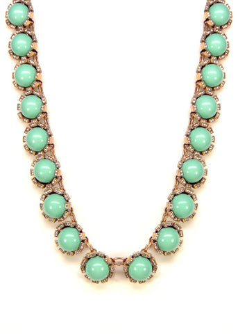 Crystal Mint Dew Drop Collar Necklace
