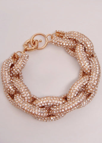 Crystal Pave Links Bracelet