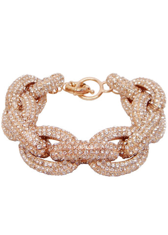 Pave Crystal Links Bracelet