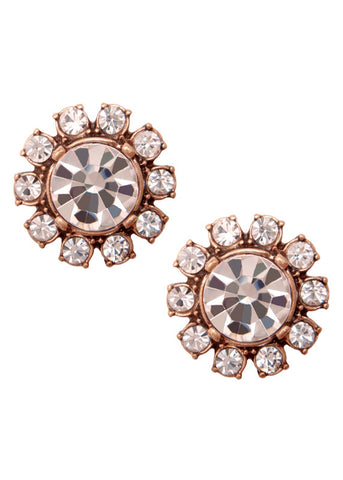 Crystal Posy Studs Earrings