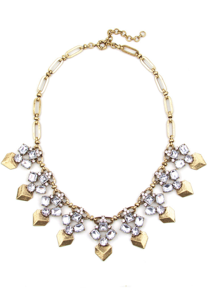 Crystal Prism Collar Necklace