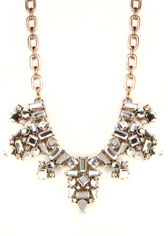 Crystal Viola Collar Necklace
