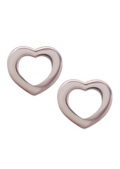 Cutout Heart Earrings in Sterling Silver