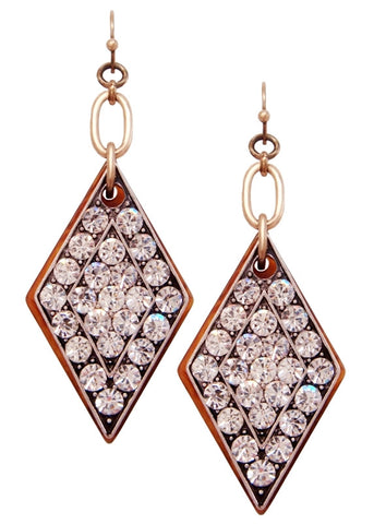 Art Deco Diamond Tortoise Drop Earrings