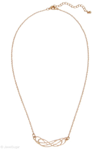 Gold Double Infinity Necklace