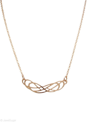 Double Infinity Necklace in 14k Gold Filled