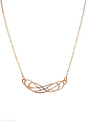 Double Infinity Necklace in 14k Rose Gold Filled