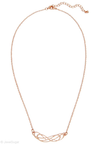 Rose Gold Double Infinity Necklace