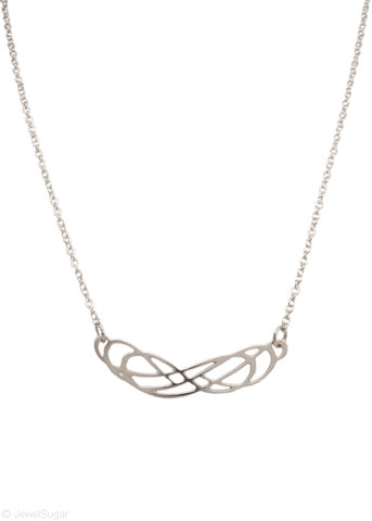 Double Infinity Necklace in Sterling Silver