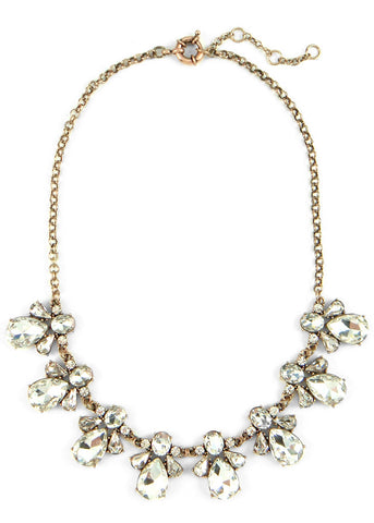 Droplet Cluster Collar Necklace