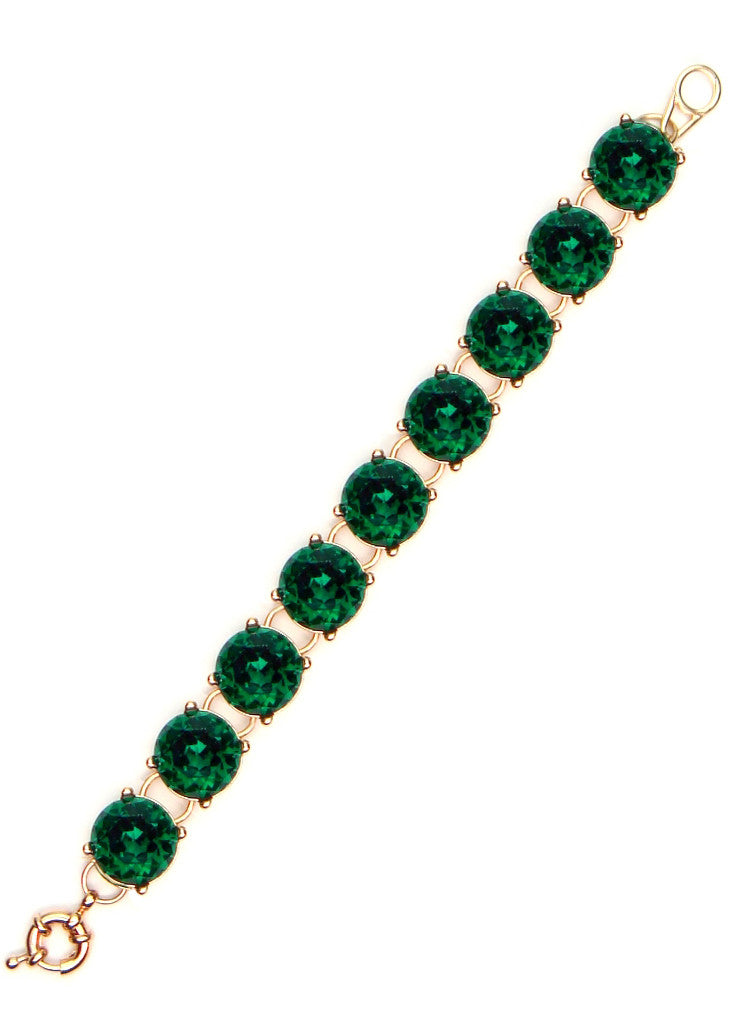 Emerald Crystal Cupcake Bracelet <br>[more sizes available]